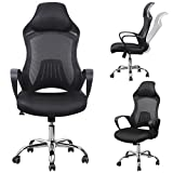 Smallwise Trading Ergonomic High-Back Racing Style Bucket Seat,Computer Swivel Lumbar Support Executive Office Game Chair (A)