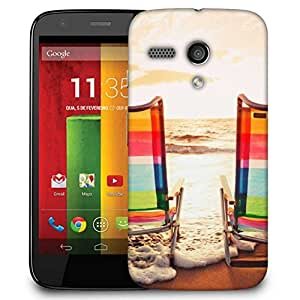 Snoogg Sandy Beach 15 Case Cover For Motorola G / Moto G