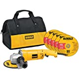 DEWALT DW840K 7-Inch Angle Grinder with Bag and Wheels
