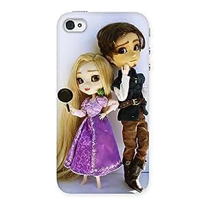 Premium Cutest Couple Multicolor Back Case Cover for iPhone 4 4s