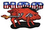 Hog Pig Embroidered iron on Motorcycle Biker Patch