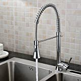 Universali Chrome Finish Contemporary Pull Out Single Handle Kitchen Faucet