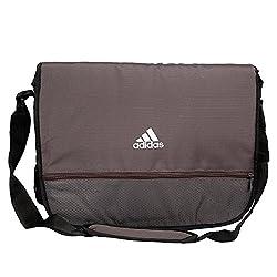 adidas AA8473NS I Perforated Polyester Messenger Bag (Granite)