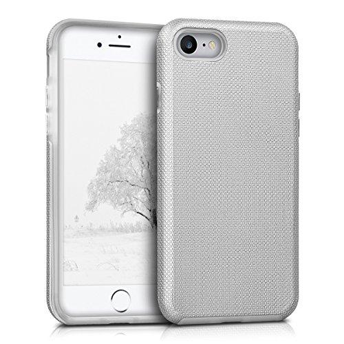 kalibri-Armor-Schutzhlle-fr-Apple-iPhone-7-Hybrid-Dual-Layer-TPU-Silikon-Schale-und-PC-Case-in-Silber