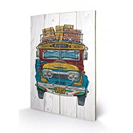Buses - Colombian Bus, Barry Goodman Cuadro De Madera (60 x 40cm)