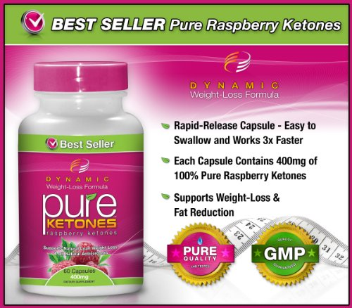 #1 PURE KETONES Raspberry Ketones, 800 mg Per Serving, 60 Vegetarian Capsules. 100% Pure All Natural Lean Weight Loss Appetite Suppressant Supplement for Men and Women. Max Pure Raspberry Ketones Per Capsule. Full Double-Strength 30-Day Supply.