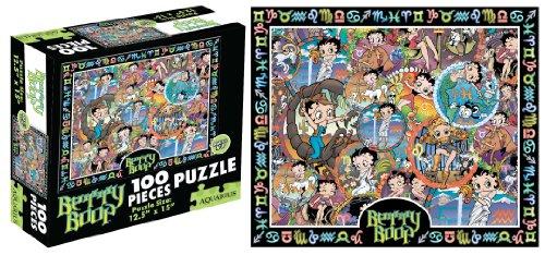 Cheap Aquarius Betty Boop Horoscope 100 Piece Childrens Jigsaw Puzzle (B004JQOKFM)