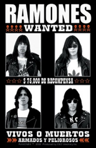 Licenses Products The Ramones Wanted Sticker