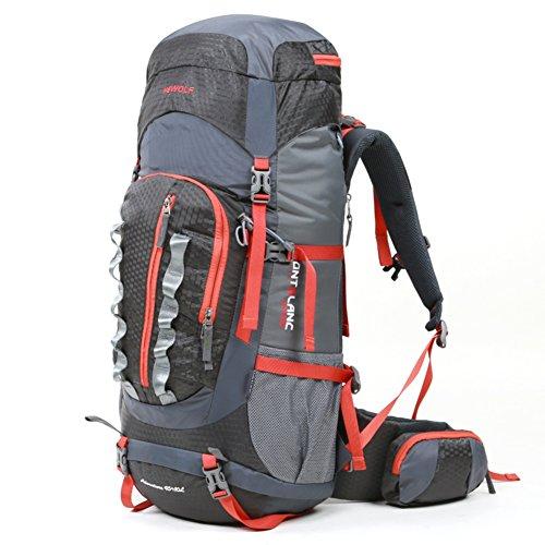 escalade extérieur sac / sac à dos / hommes et les femmes sac à bandoulière / packages de voyage randonnée de camping imperméables-gris 55L