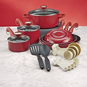 Paula Deen 20 Piece Dishwasher Safe Non Stick Cookware Set