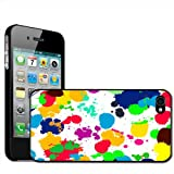 Fancy A Snuggle 'What A Mess - Paint Splash Drop and Drips in Various Colours' Clip On Back Cover Hard Case for Apple iPhone 4/4S