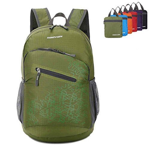 ORICSSON 20L Ultra Lightweight Travel Collapsible Daypack Travelling Backpacks Green (Purse Insert Holster compare prices)
