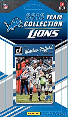 Detroit Lions 2016 Donruss NFL Football Factory Sealed Limited Edition 11 Card Complete Team Set with Matthew Stafford, Ameer Abdullah, Legend BARRY SANERS & Many More! Shipped in Bubble Mailer!