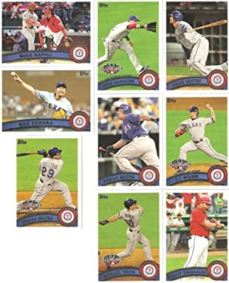 Update Set - 15 Cards of the 2011 Texas Rangers American League Champions / Including All-Stars Josh Hamilton, Ogando, CJ Wilson, Michael Young & More!