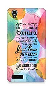 AMEZ life is like a camera Back Cover For Lenovo A3900