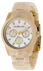 Michael Kors Women's Resin Horn Acrylic Chronograph Watch