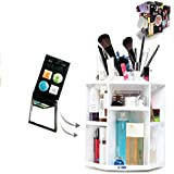 ECVISION Big Capacity Rotating Acrylic Cosmetic/revolving makeup organizer/Cosmetics Storage (White)