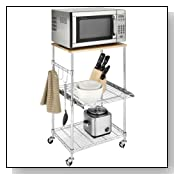 Kitchen Microwave Cart with Locking Wheels