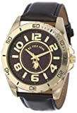U.S. Polo Assn. Classic Mens USC50012 Analogue Brown Dial Leather Strap Watch