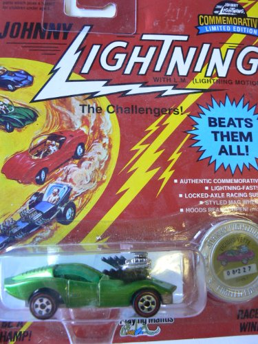 Johnny Lightning The Challengers Green Vicious Vette Series I - 1