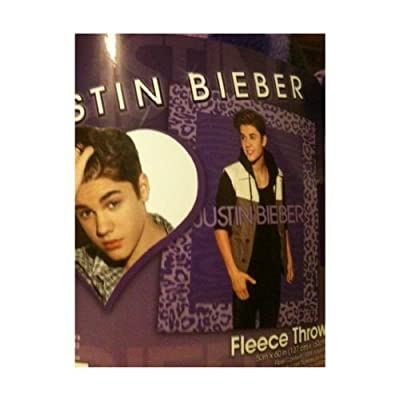 Justin Bieber Fleece Throw