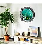 (キング デラックス) KING DELUXE 海の世界 3D 立体 ウォールステッカー 壁飾り ウォールペーパー 壁紙 シール ステッカー JWALL-1037