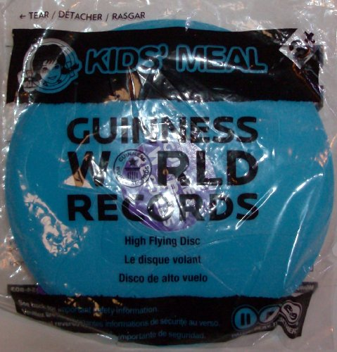 "Wendy's Kids Meal Guinness World Records Flying Disc (mini size) 6 1/2"" across - 1"