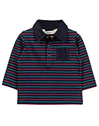 Beebay Elbow Patch Polo T-Shirt (C4014216703025_Navy_6-12M)