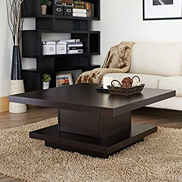 Audra Coffee Table Bright and Smooth Coffee Bean Finish