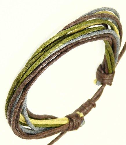 Neptune Giftware Mens Surf Surfer Style Multi-Coloured Cord Bracelet Wristband - 86