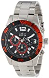 Invicta Mens 12801 Pro Diver Chronograph Black Dial Stainless Steel Watch