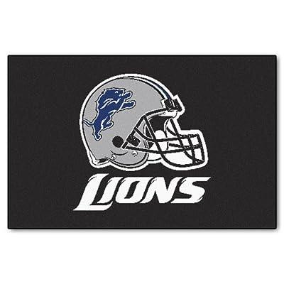 FANMATS NFL Detroit Lions Nylon Face Starter Rug