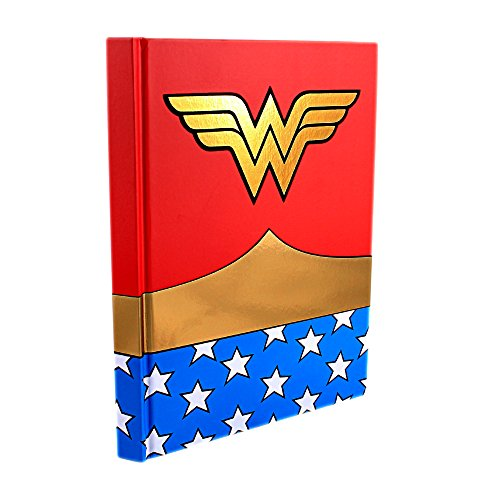 Silver Buffalo WW0150 DC Comics Wonder Woman Uniform Hard Cover Journal with Ribbon Book Mark, 160-Pages, 6 in. x 8 in (Wonder Woman Merchandise compare prices)