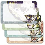 Tea Cups and Saucers - Assorted Adhesive Labels