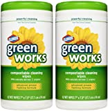 Green Works Compostable Cleaning Wipes Canister - 62 ct