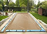 18'x36' Supreme Plus Tan Rectangle In-Ground Swimming Pool Winter Cover 15 Year