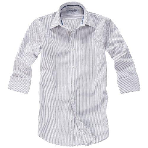 Charles Wilson Jones Black Fine Stripe Men'S Casual Shirt : Xx-Large