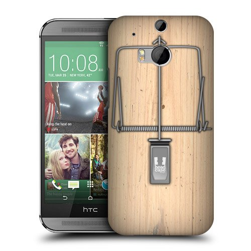 Head Case Designs Mouse Trap Protective Snap-On Hard Back Case Cover For Htc One M8