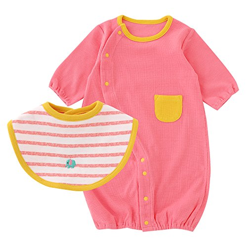 (チャックル) chuckle スタイ付きカラフル新生児ツーウェイオール ピンク 50-60cm P5091-00-20