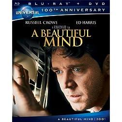 A Beautiful Mind [Blu-ray + DVD] (Universal's 100th Anniversary)