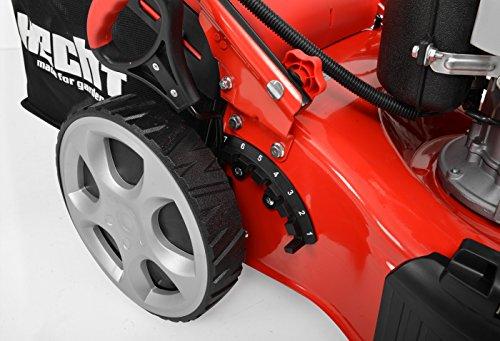 Hecht 5484 SXE Benzin-Rasenmäher, ELEKTRO-Start, 4 Gänge, 5 PS, 46 cm -