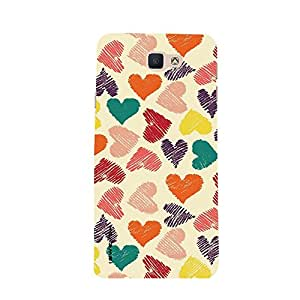 iSweven samon7_16_1276 Printed high Quality Color_Full_Heart Design Back case cover for Samsung Galaxy On7 (2016)