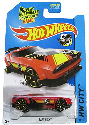 Hot Wheels - 2014 HW City 17/250 - HW Goal - Fast Fish (red)
