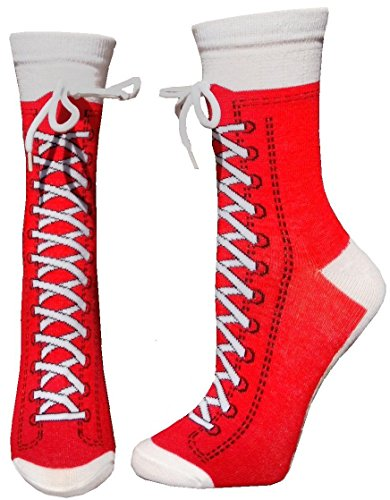 Sneaker Converse Red Novelty Shoe Crew Size With Shoe Lace
