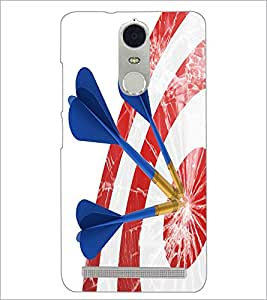 PrintDhaba Dart Board D-3424 Back Case Cover for LENOVO K5 NOTE (Multi-Coloured)