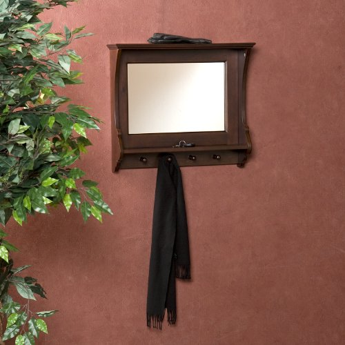 Entry Way Mirror with Cloth Hanger