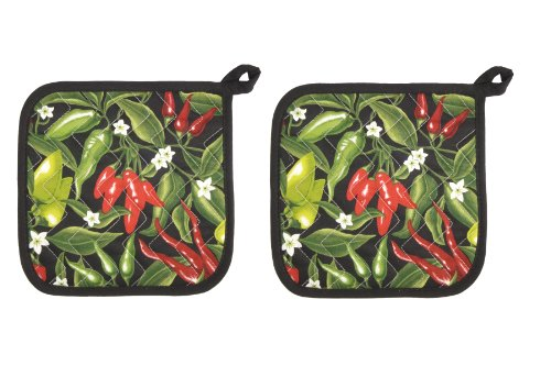 Now Designs 505340a Basic Potholders, Set of 2 (Pick A Pepper)
