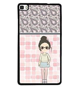 Fuson 2D Printed Girly Designer back case cover for Huawei P8 - D4420