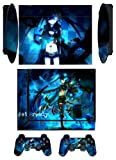 Black Rock Q Skin Sticker PS3 PlayStation 3 Super Slim with 2 Controller Skins