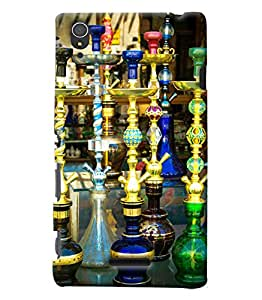 Blue Throat Hookas Inpsired Hard Plastic Printed Back Cover/Case For Sony Xperia T3